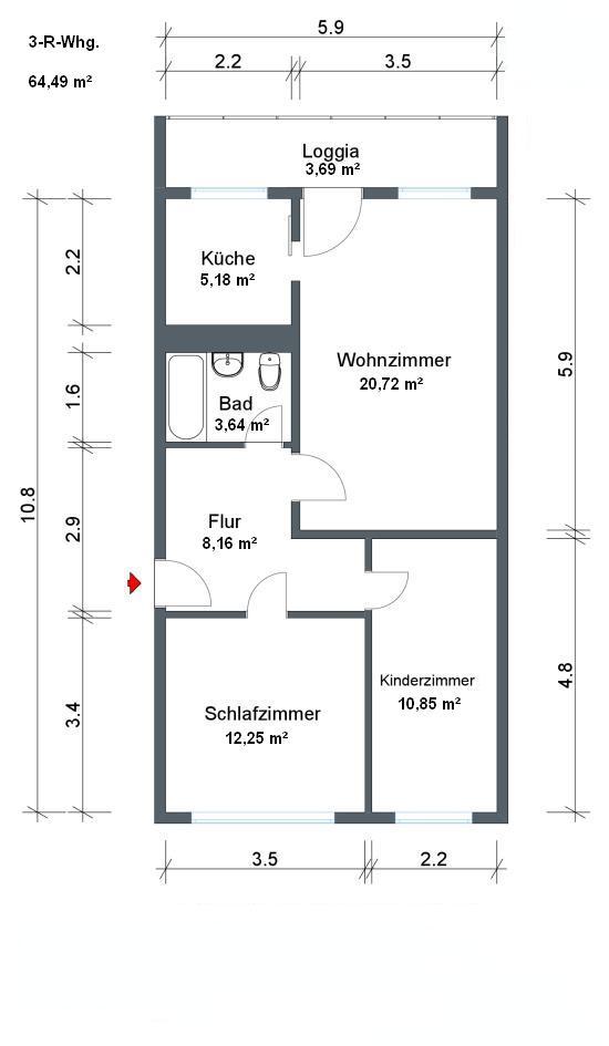 wohnungsgenossenschaft coswig aktuelle wohnungsangebote3 raum wohnung in coswig. Black Bedroom Furniture Sets. Home Design Ideas